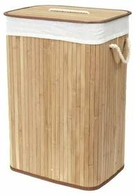 Compactor Bamboo szennyestartó kosár, szögletes,természetes