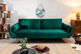 Összecsukható kanapé Divani II smaragdzöld 215cm