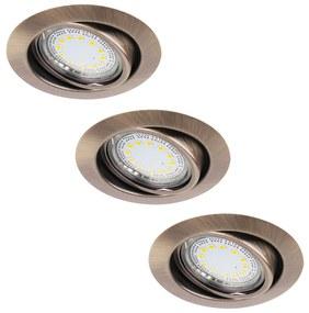 Rabalux Rabalux 1051 - KÉSZLET 3xLED Beépíthető lámpa LITE 3xGU10-LED/3W/230V RL1051