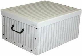 Compactor Nordic összecsukható tárolódoboz,  50 x 40 x 25 cm, szürke