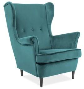 ARISTO Velvet fotel, 81x101x85, bluvel 85