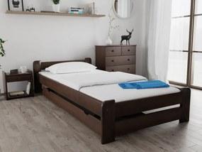 Emily ágy 80x200 cm, diófa Ágyrács: Deszkás ágyráccsal, Matrac: Deluxe 15 cm matraccal