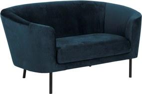 Stílusos kanapé Nilla sötétkék 160 cm