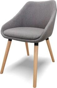 MB Dublin Erős kényelmes szék sötétszürke kárpittal