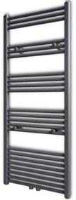 vidaXL Szürke fürdőszobai törölközőszárító radiátor központi fűtéssel egyenes 600 x 1424 mm