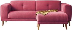 Luna piros háromszemélyes kanapé, lábtartóval - Bobochic Paris