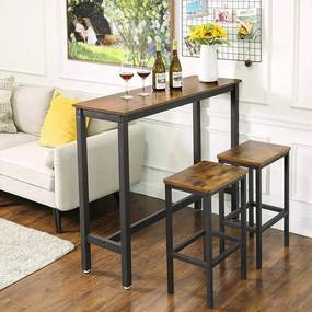 Bárasztal, stabil magas asztal 120 x 40 x 100 cm
