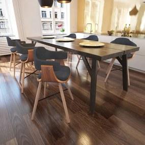 6 db hajlított fa étkezőszék szövet kárpitozással