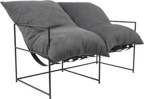 Moderm 2-ülés, szürke/fekete, DEKER