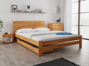 Magnat PARIS magasított ágy 180x200 cm, égerfa Ágyrács: Ágyrács nélkül, Matrac: matrac nélkül