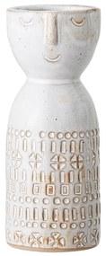 Geometric fehér agyagkerámia váza - Bloomingville