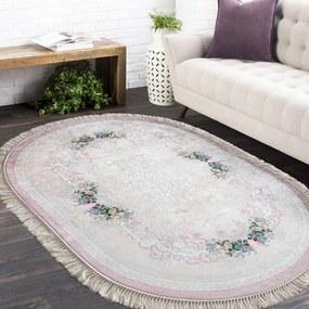 Ovális csúszásgátló szőnyeg rózsaszín Szélesség: 180 cm | Hossz: 280 cm