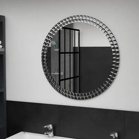 Ezüstszínű edzett üveg falitükör 70 cm