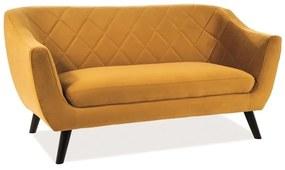 LILY Velvet 2 kárpitozott kanapé, 160x83x85, bluvel 68