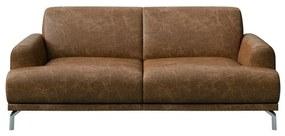 Puzo barna bőrkanapé, 170 cm - MESONICA