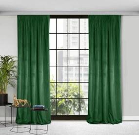Rosa bársony sötétítő függöny Sötétzöld 135x300 cm