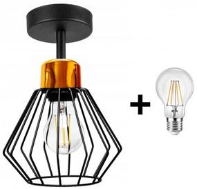 Diamond Mild LUX fix mennyezeti lámpa 1x E27 + ajándék LED izzó