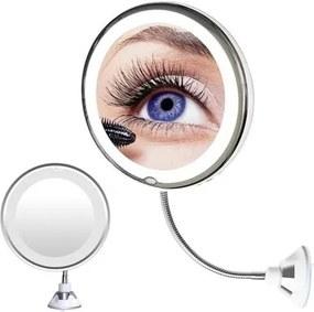 ISO Kozmetikai tükör tapadókoronggal és LED-es világítással 10x, 9619