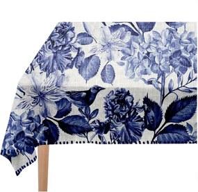 Blue Birds asztalterítő, 140 x 140 cm - Linen Couture