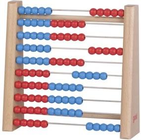 Fa abacus kék és piros színben Wooden