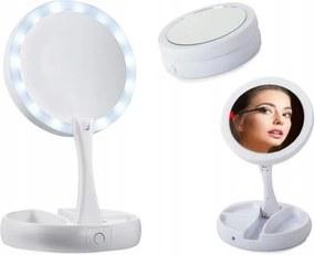 ISO Összecsukható kozmetikai nagyító tükör LED háttérvilágítással, 9618