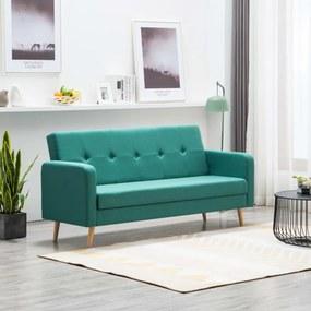 Zöld szövet kanapé