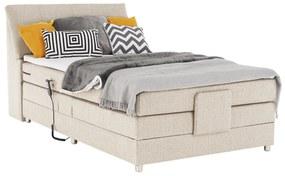 Elektromos állítható ágy, boxspring, bézs, 120x200, GERONA