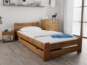 Laura ágy 90x200 cm, tölgy Ágyrács: Lamellás ágyráccsal, Matrac: Matrac nélkül