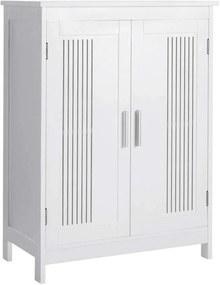 Padlószekrény, tárolószervező egység, 2 ajtós szekrény, 60 x 30 x 80 cm