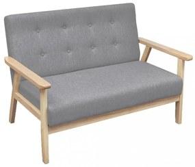 Világosszürke 2 személyes szövet kanapé