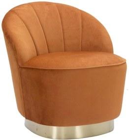 SOPHY narancssárga és arany bársony szék