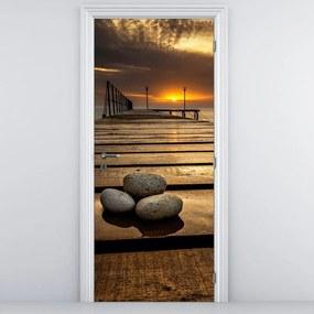 Fotótapéta ajtóra - Naplemente (95x205cm)