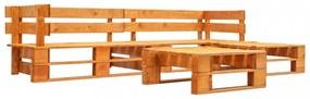 4 részes mézbarna fsc fa kerti raklap-ülőgarnitúra