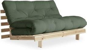 Roots Raw/Olive Green zöld kinyitható kanapé - Karup Design