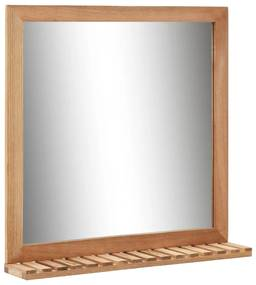 vidaXL tömör diófa fürdőszobai tükör 60 x 12 x 62 cm