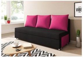 LISA kanapé, fekete/rózsaszín (alova 04/alova 76)