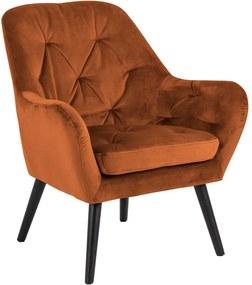 Astro rozsdabarna bársony fotel - Actona