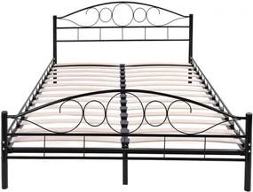 Fém ágykeret ajándék ágyráccsal, 160x200cm, fekete
