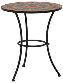 vidaXL narancssárga és szürke kerámia mozaikos bisztróasztal 60 cm