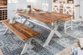 Stílusos étkezőasztal Rodney 160 cm mangófa
