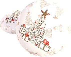 Dekorációs kispárna töltettel, Christmas fehér 40x40 cm