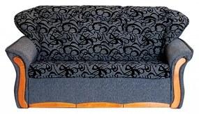 Evelin iii (szövetes) ágyazható, karfás  kanapé ka039 (sötét szürke)
