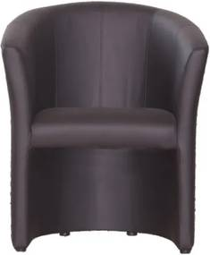 Fotel, fekete textilbőr, CUBA