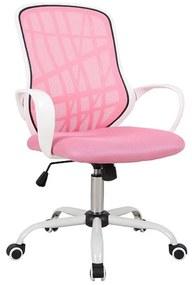 HOLLAND gyerek szék, 51x95-105x45, rózsaszín / fehér