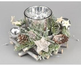 Karácsonyi gyertyatartó Pima, átmérő 16 cm
