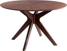 Carmel diófa mintás étkezőasztal, ⌀ 120 cm - sømcasa