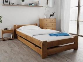 Emily ágy 80x200 cm, tölgyfa Ágyrács: Lamellás ágyráccsal, Matrac: Matrac nélkül