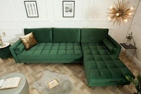 COZY VELVET design bársony kanapé - zöld