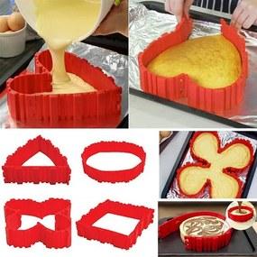 UD Varázslatos alakú szilikon forma süteményekhez, piros