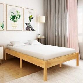 Tömör tölgyfa ágykeret 140 x 200 cm